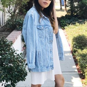 Jackets & Coats - Oversized jean jacket.